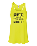 Fitness Rags Ladies Shot Tank
