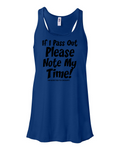 Note My Time Ladies Tank