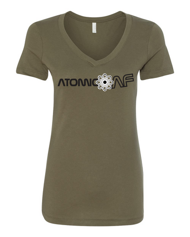Atomic AF Ladies V Neck
