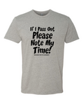 Note My Time Mens Shirt