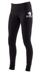 WARRIOR MOM LEGGINGS/YOGA PANTS - BLACK