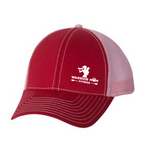 WARRIOR MOM FITNESS - RED/PINK TRUCKER