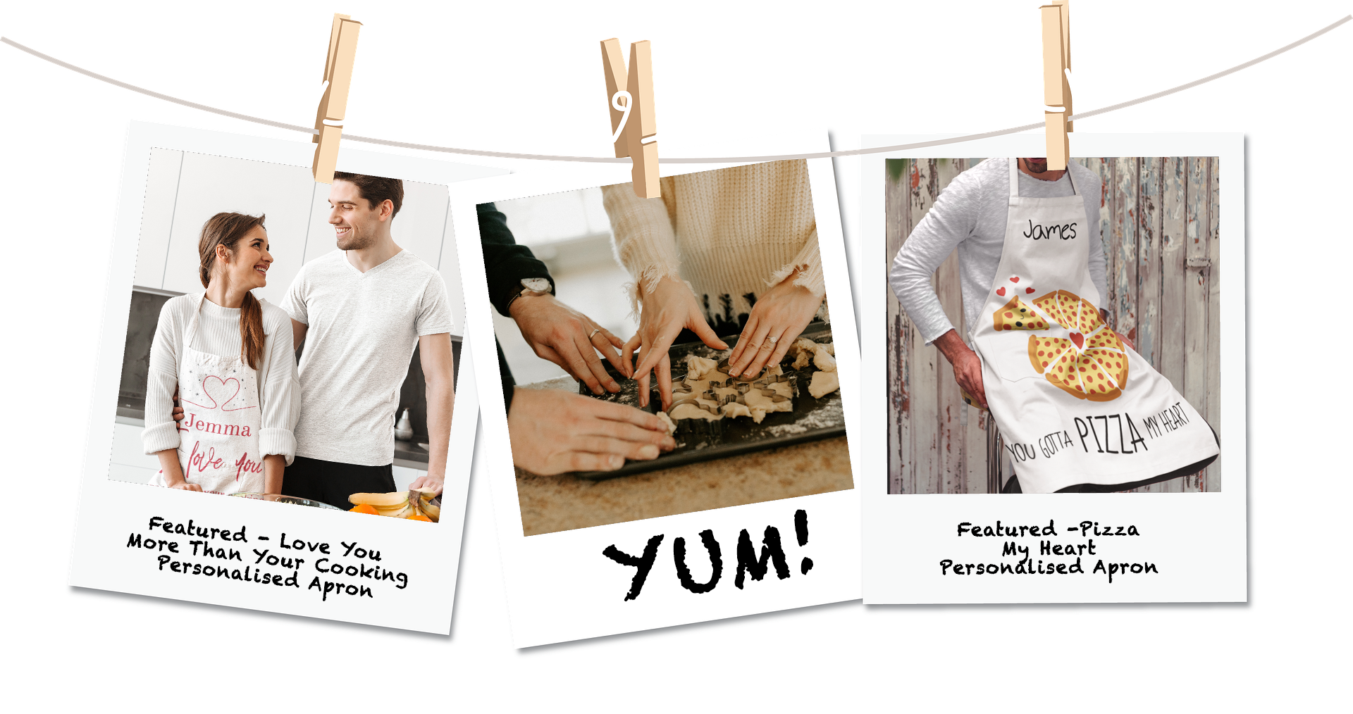 Personalised Aprons and Cooking