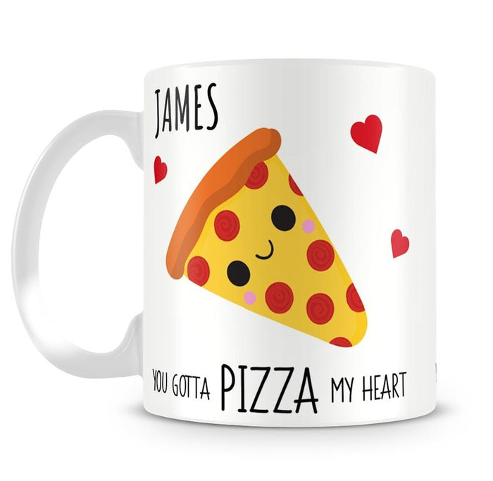 Pizza My Heart Personalised Mug