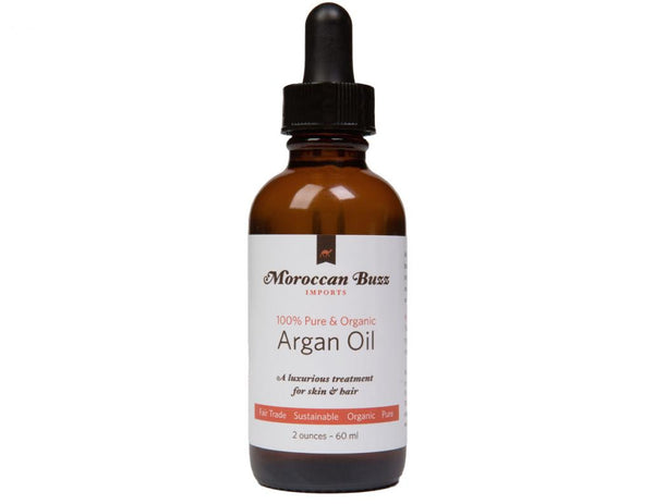 Moroccan Buzz Organic, Fair-Trade Moroccan Argan Oil, 2 Ounce (60 ml)