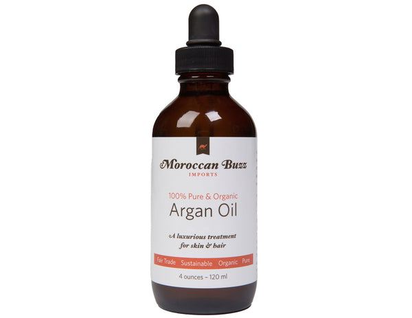 Moroccan Buzz Organic, Fair-Trade Moroccan Argan Oil, 4 Ounce (120 ml)