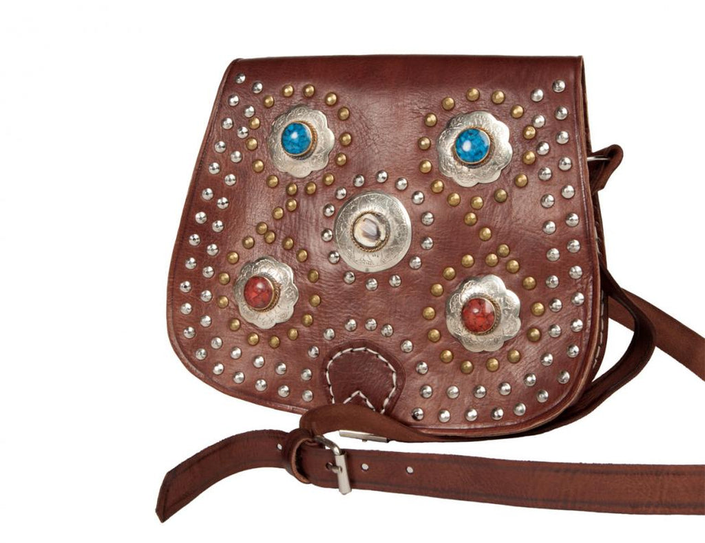 Bahia Crossbody Medallion Bag - Brown