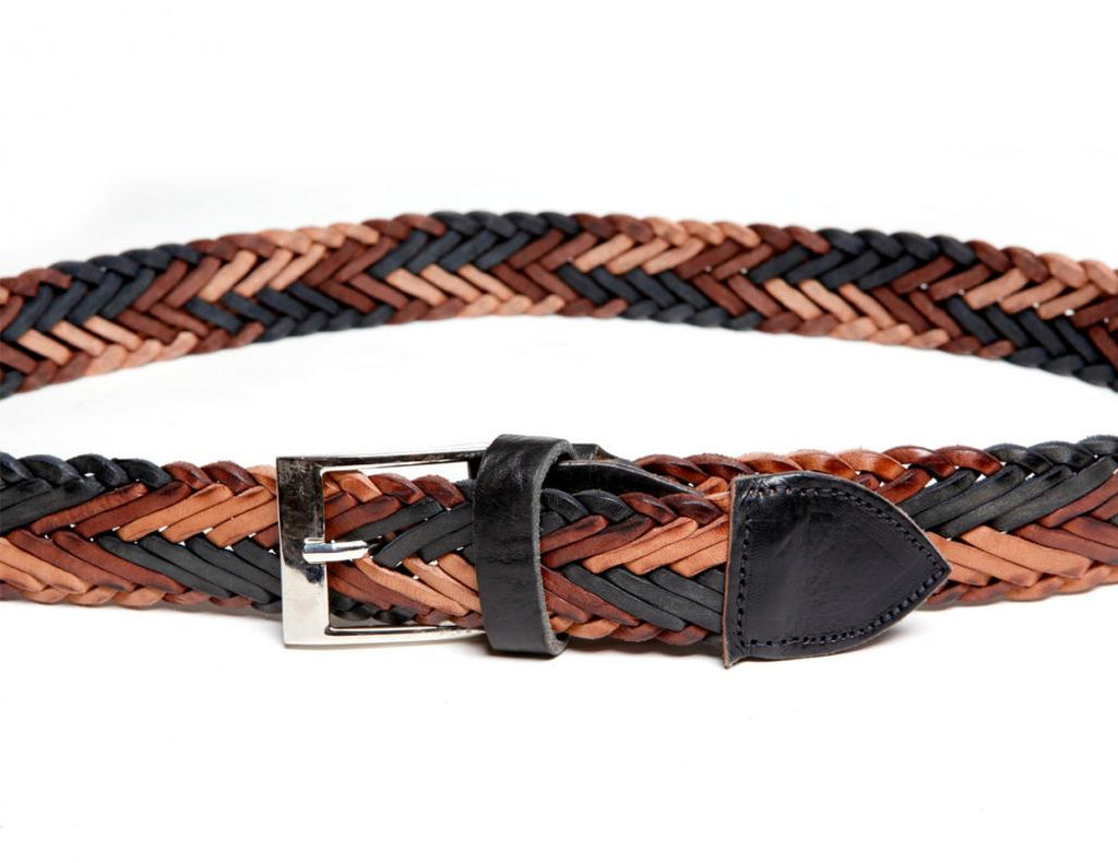 "1 1/2"" Double-Braided Leather Belt"
