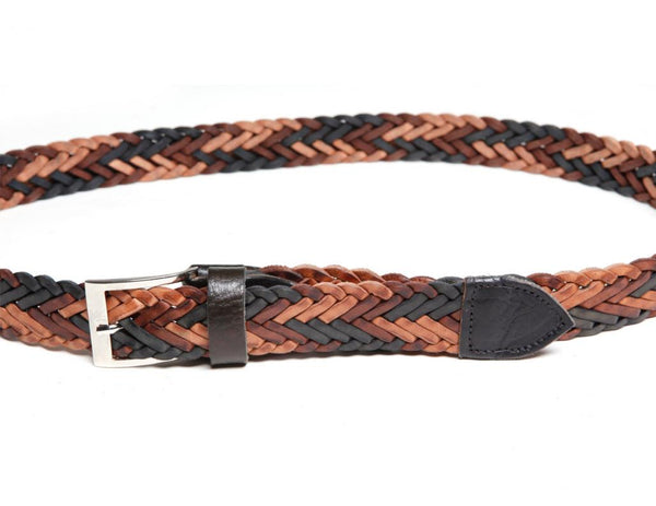 "1 1/4"" Braided Leather Belt"