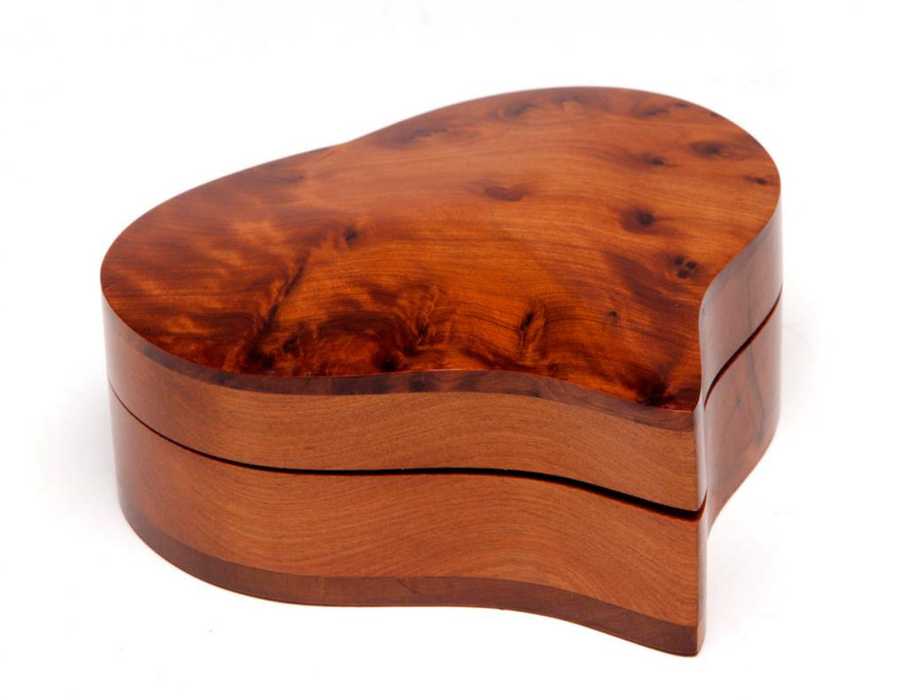 Heart-Shaped Moroccan Thuya Wood Box