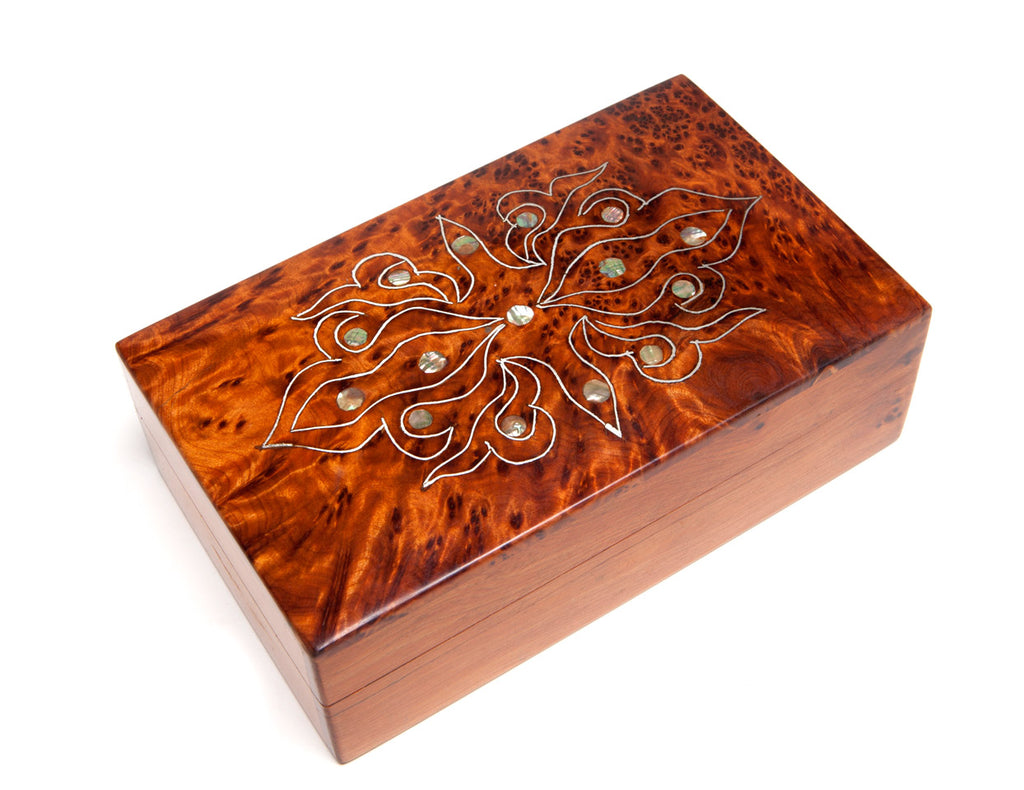 Mother-of-Pearl Inlaid Box (Medium), Moroccan Thuya Wood