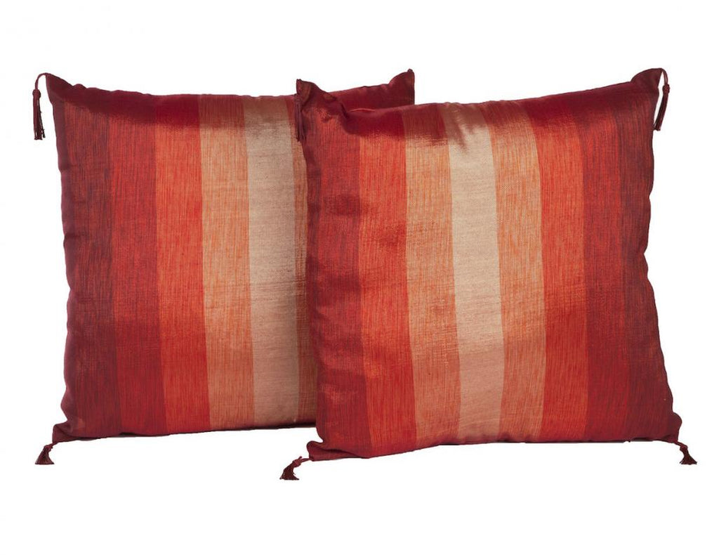 "18"" Sunset Stripes Pillow Pair"