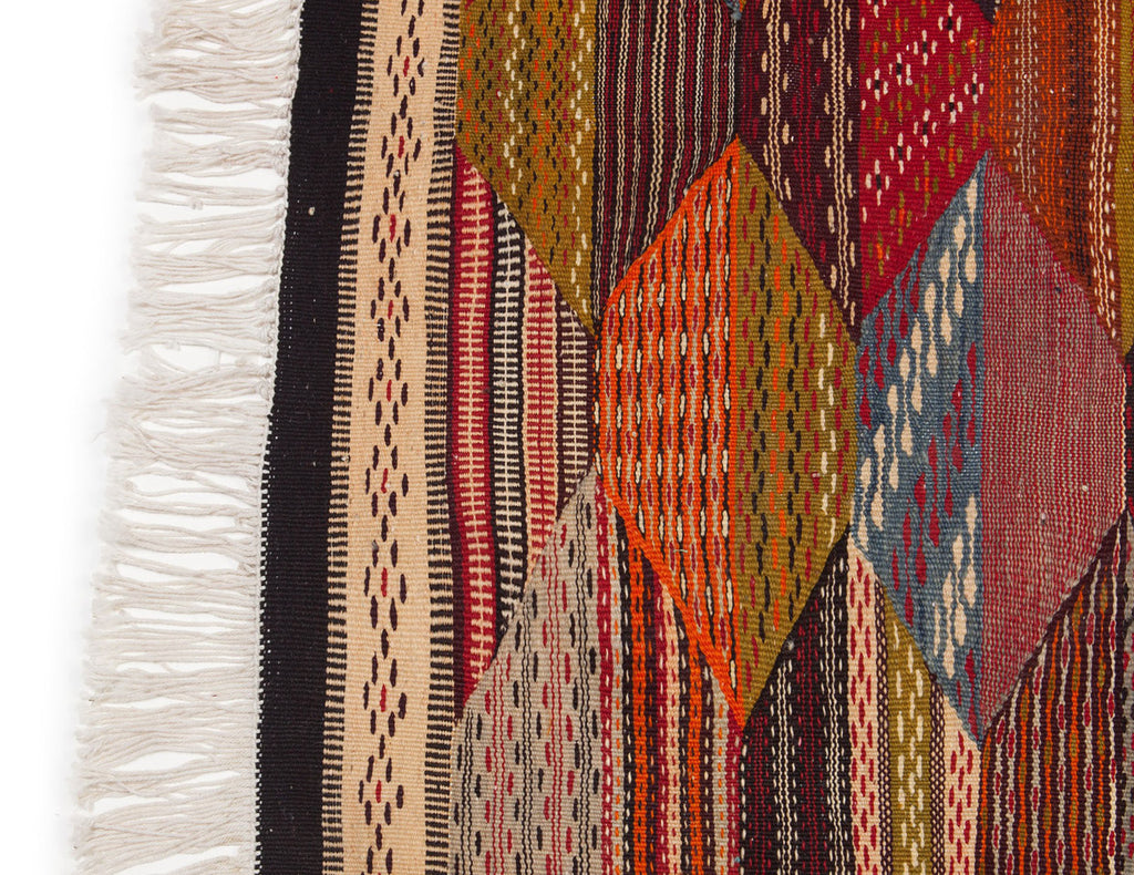 3.5 x 6.5 Multi-Colored Geometric Handwoven Kilim