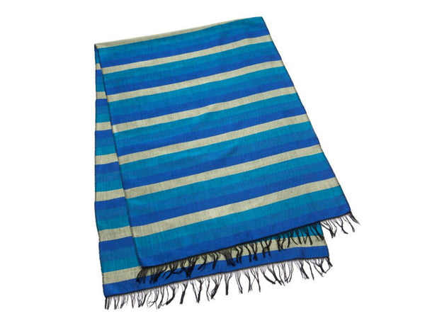Indigo Gold Table Runner / Scarf