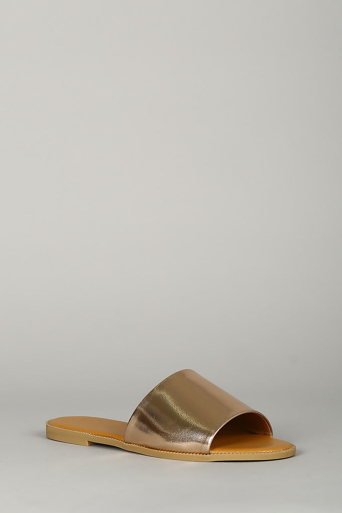EASY SLIDE SANDALS ROSE GOLD