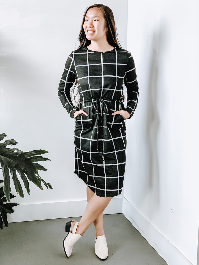 OPTIMISTIC GRID DRESS