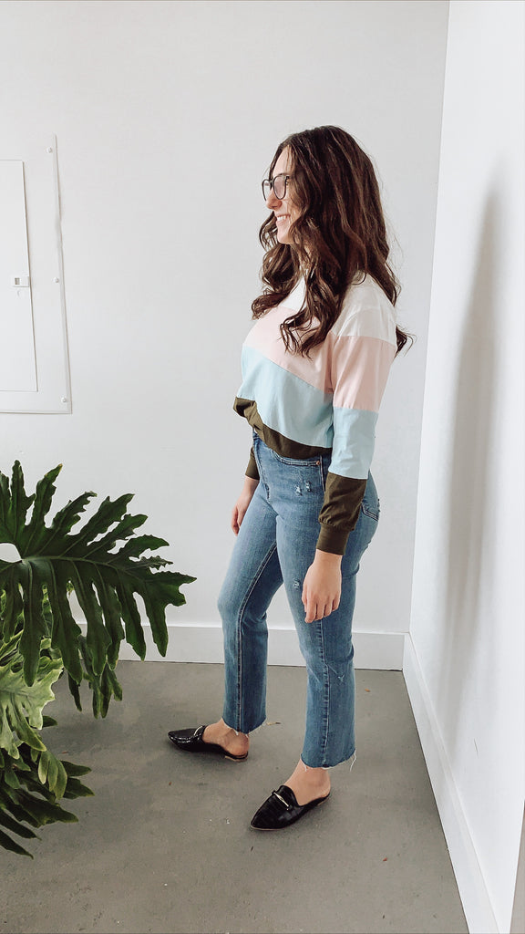 SHERBET COLOR BLOCK TOP