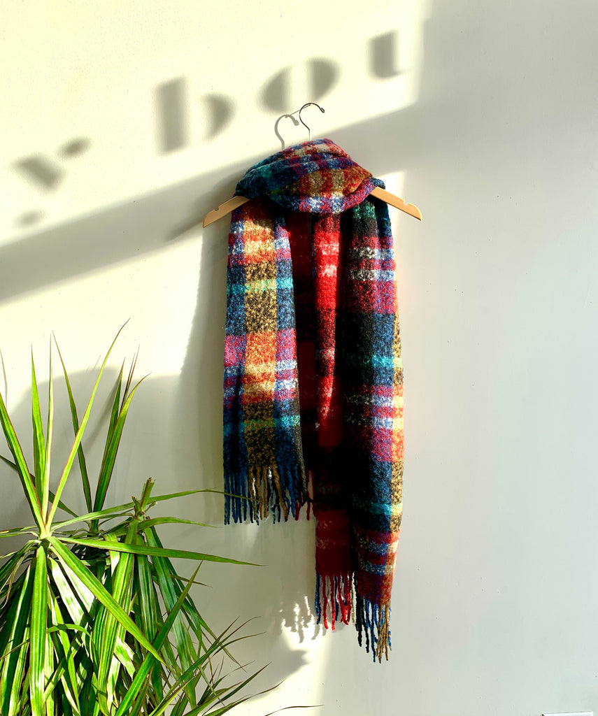 PLAYFUL PLAID SCARF