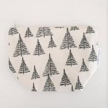 Load image into Gallery viewer, Cosmetic Pouch: Pine Trees