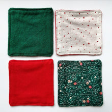 Load image into Gallery viewer, Cotton Facial Squares: Christmas Edition