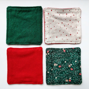 Cotton Facial Squares: Christmas Edition