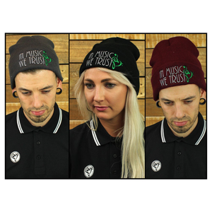 Beanie (Grey/Black/Burgundy)