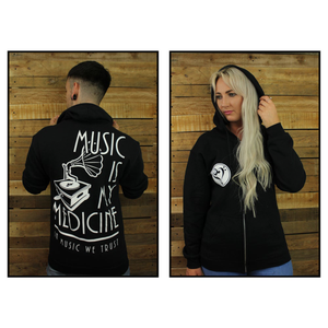 The Gramophone - Zip Hoodie (Black)
