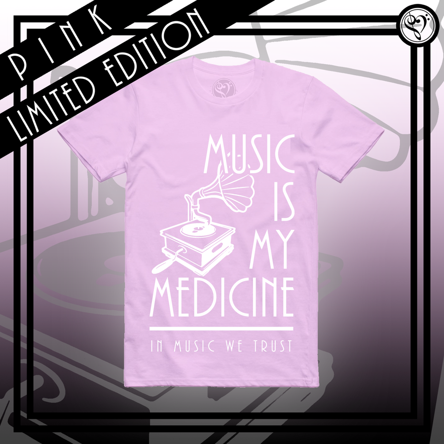 Limited Edition Gramophone - Tee (Light Pink)