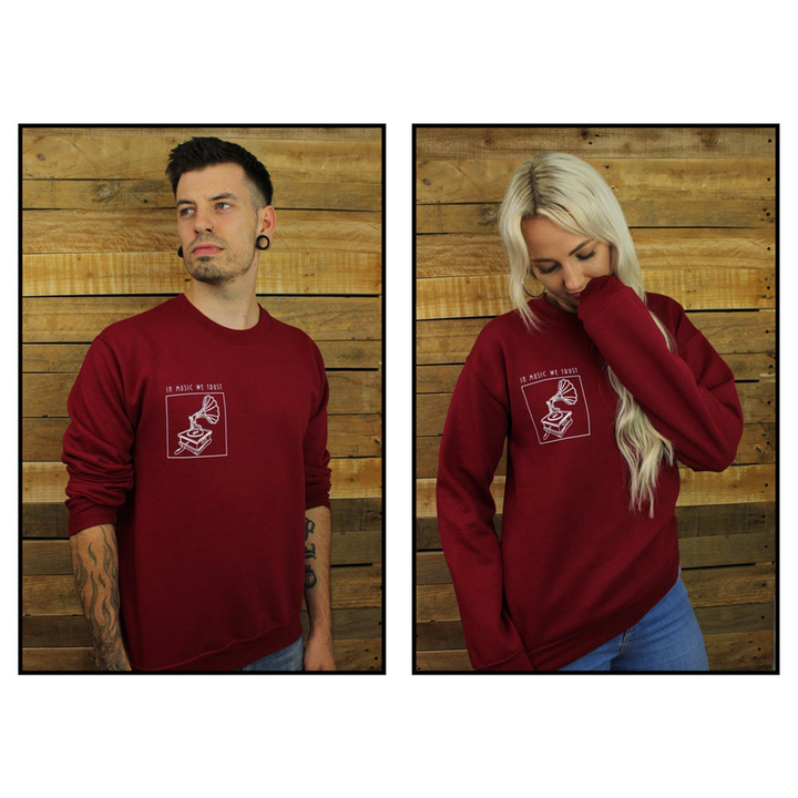 The Music Box - Sweatshirt (Burgundy)