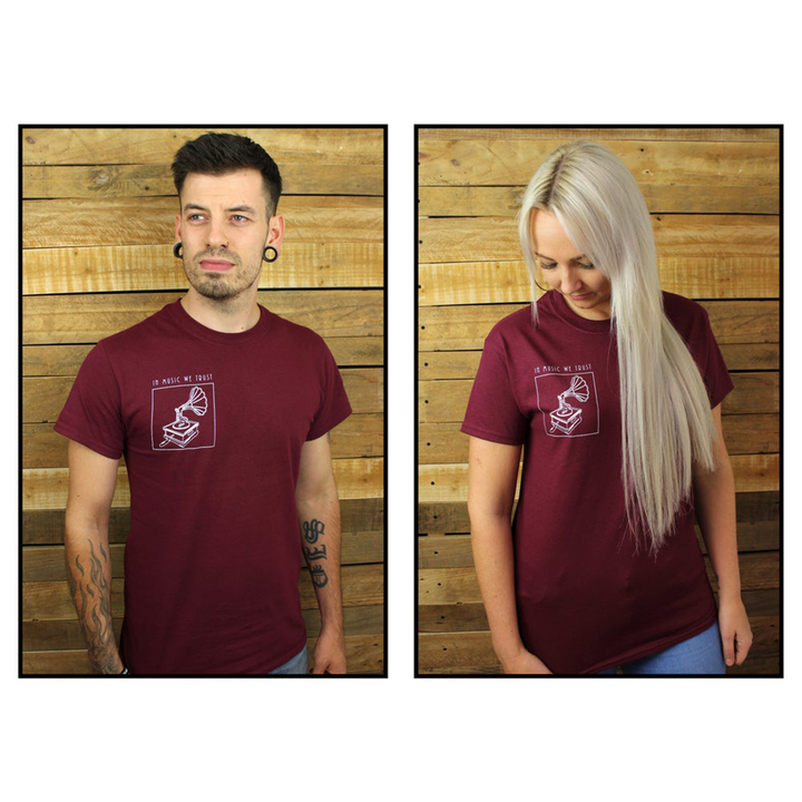 The Music Box - Tee (Burgundy)