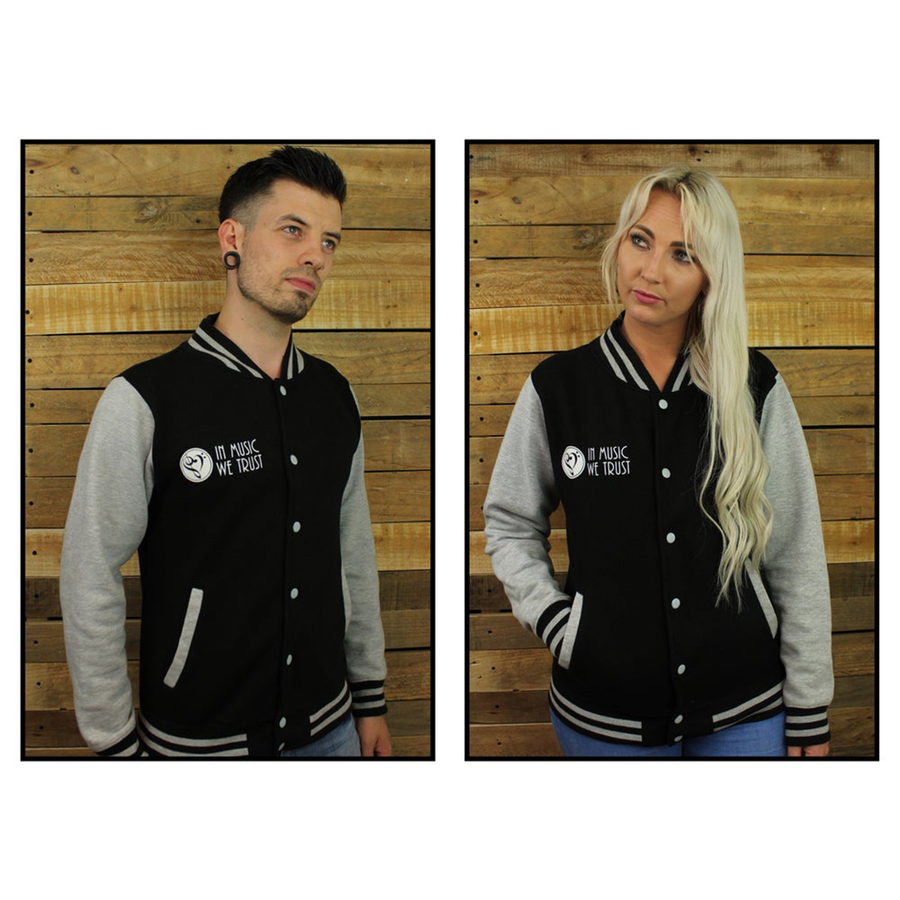 Varsity Jacket (Black & Grey)