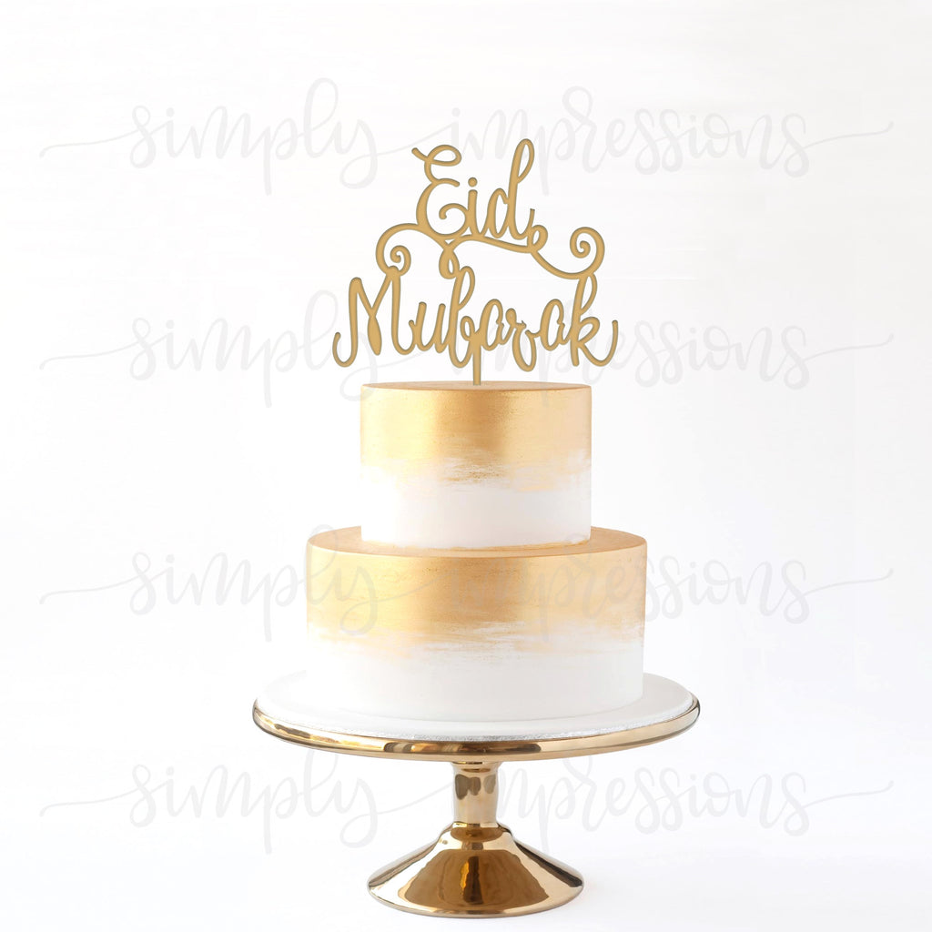 EID MUBARAK Cake topper any colour WOODEN hand made