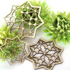 Hanging Geometric 3 Ramadan and Eid Decoration Intricate wood cutout Hang or display as a centerpiece for table or wall decoration Festive decor in 9 finishes hand painted stained artwork laser cut original carving