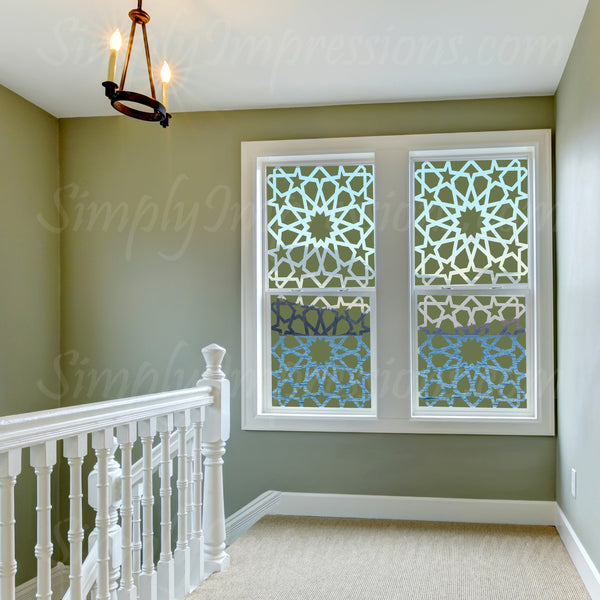 Modern Muslim Islamic Window Decal Sticker Geometric