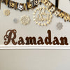 Large Ramadan Eid & Mubarak Wood Cut out