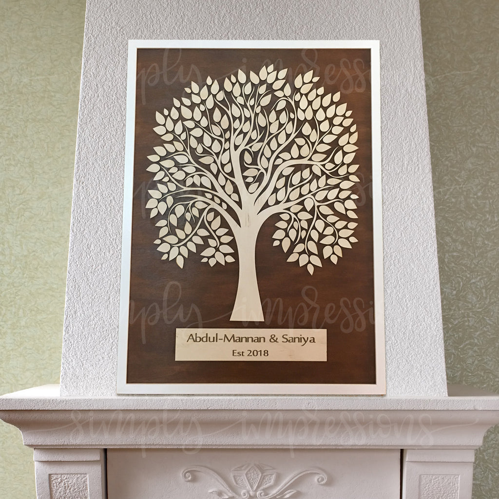 Wedding Guest Signature Tree Picture Frame Simply Impressions By