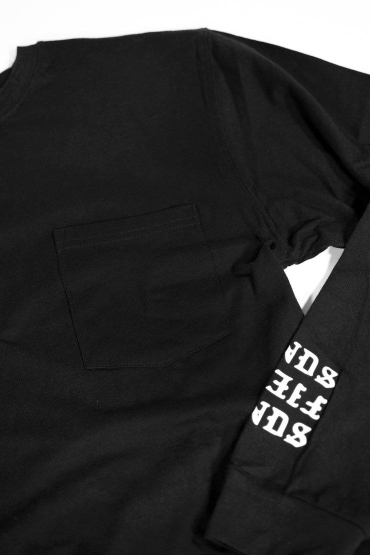 FIENDS LONG SLEEVE POCKET TEE