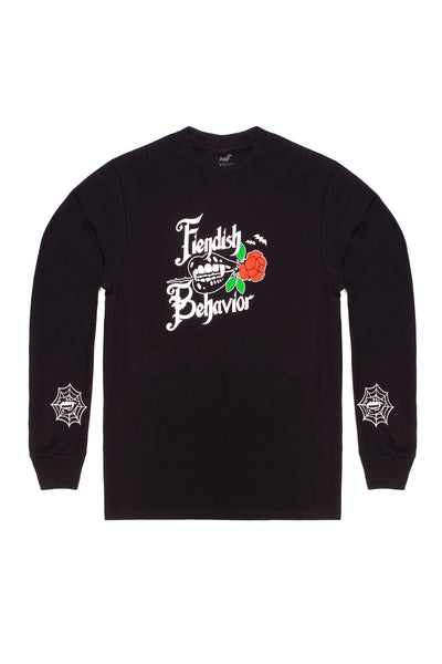 FIENDISH BEHAVIOR FANGS LONG SLEEVE TEE