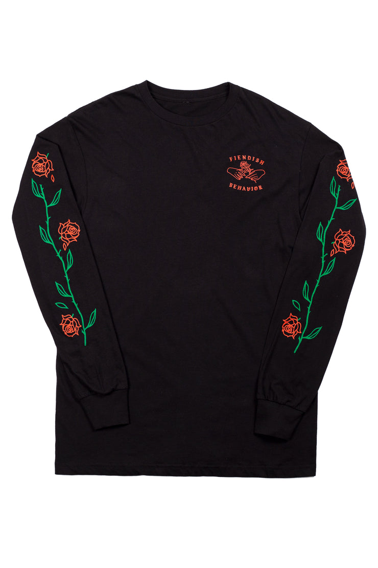 FIENDISH BEHAVIOR LONG SLEEVE TEE