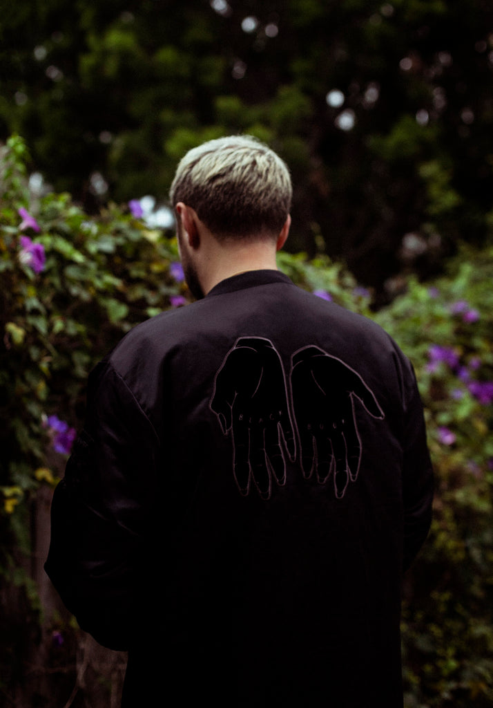 BLACK BOOK OVERSIZED BOMBER