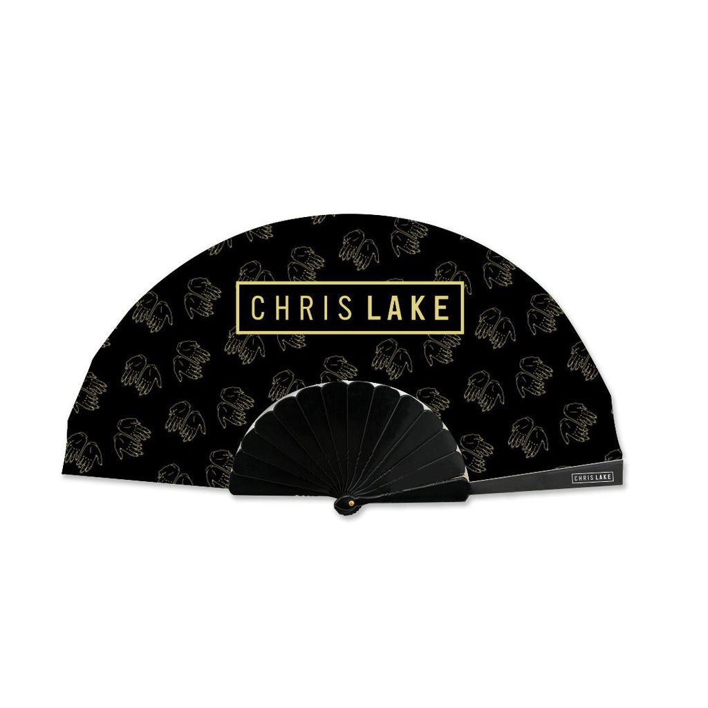 CHRIS LAKE LOGO HAND FAN