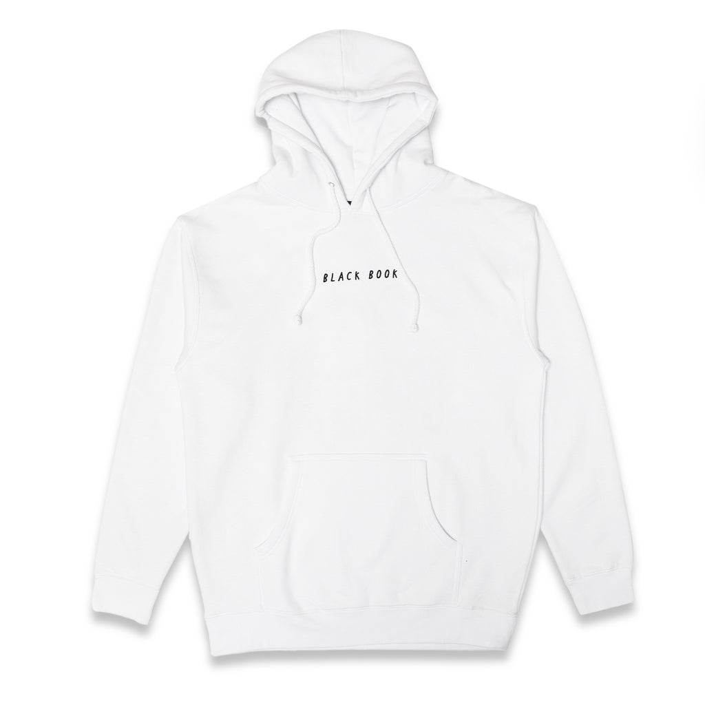EMBROIDERED BLACK BOOK HOODIE