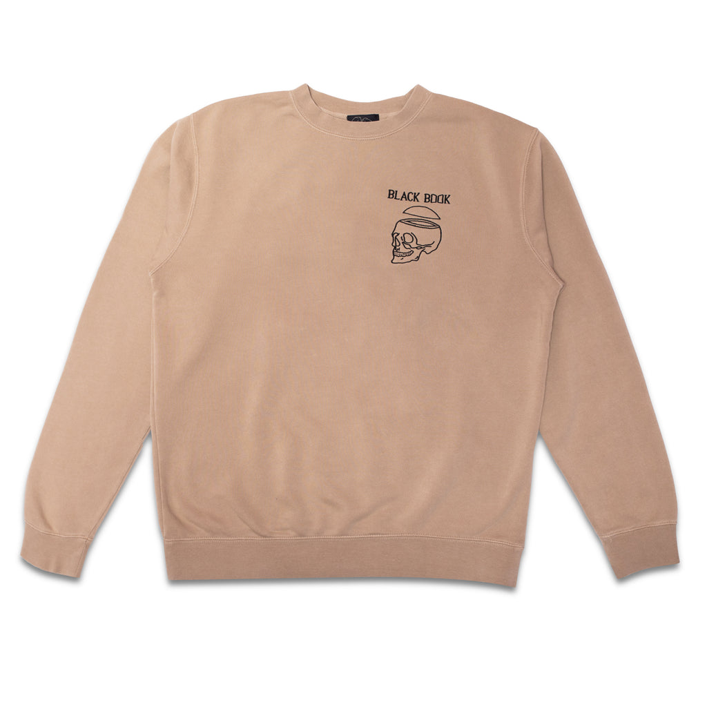 BLACK BOOK EMBROIDERED CREWNECK
