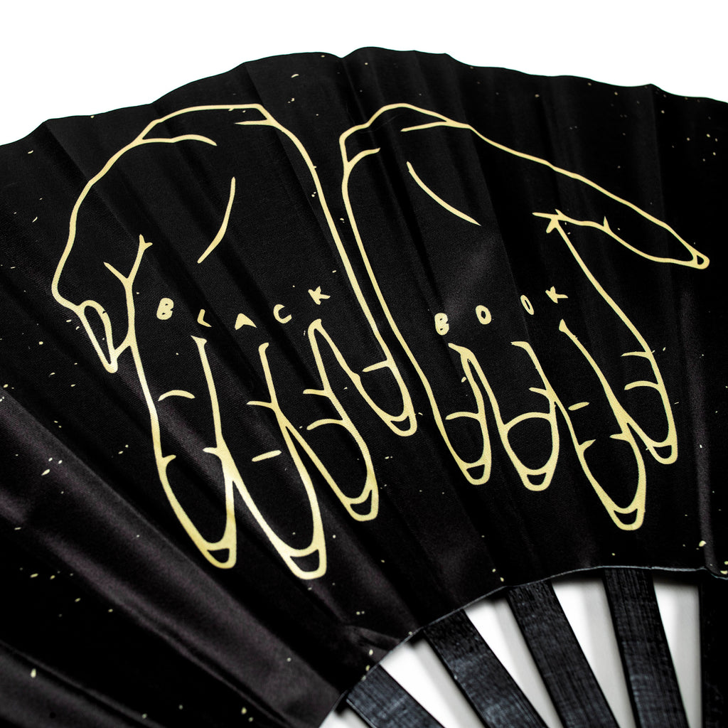 BLACK BOOK HAND FAN