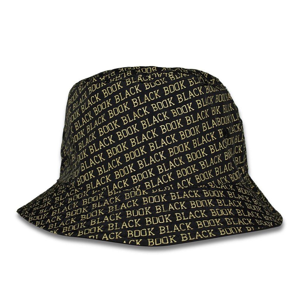 BLACK BOOK BUCKET HAT