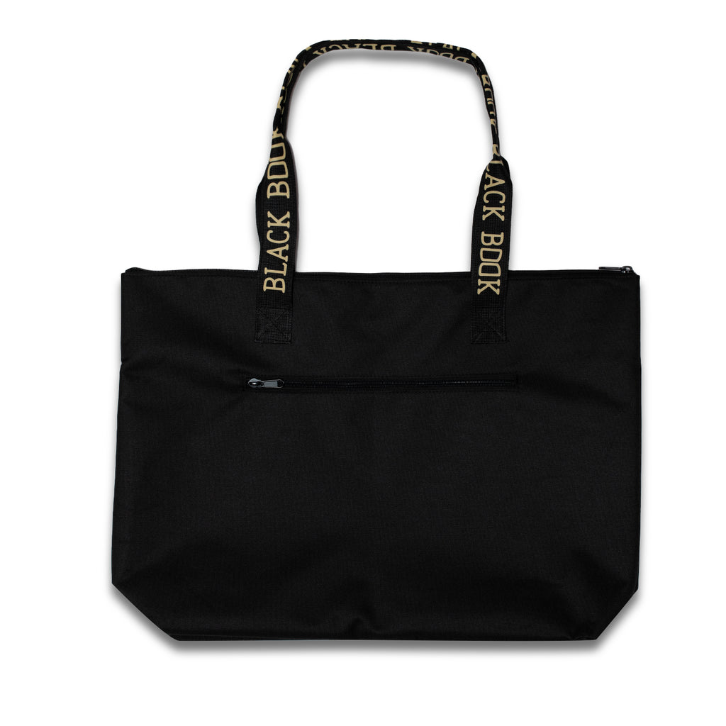 BLACK BOOK TOTE BAG