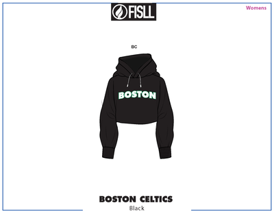 FISLL/NBA Boston Celtics Cropped Women's Hoodie