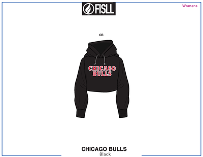 FISLL/NBA Chicago Bulls Cropped Women's Hoodie