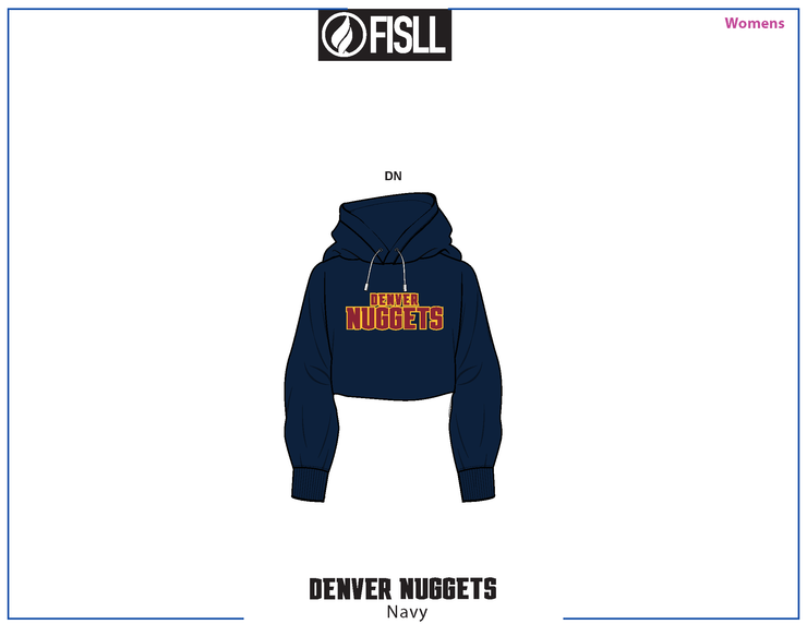 FISLL/NBA Denver Nuggets Cropped Women's Hoodie