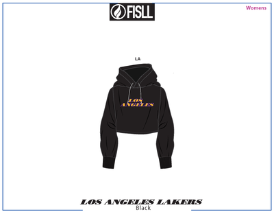 FISLL/NBA LA Lakers Cropped Women's Hoodie